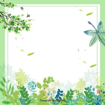 綠色清新立春春天背景 , 春天, 清新, 簡單 背景圖片