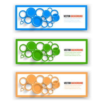 vektor koleksi web bentuk banner , Abstrak, Latar Belakang, Banner imej latar belakang