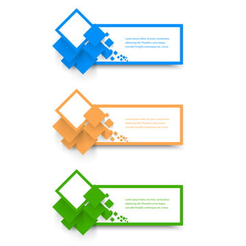vector collection web banner  design , Banner, Square, Rhombus Background image
