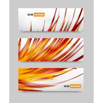 vektor bunga set banner brosur dan template , Abstrak, Abstraksi, Karya Seni imej latar belakang