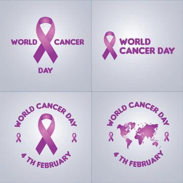 世界癌日ベクターグラフィックセット , 癌の日, グラフィック資産, グラフィック要素 背景画像