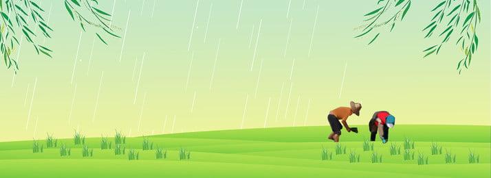24太陽用語雨移植庭の背景 24ソーラーターム グーユー 挿入する 牧歌的な背景 農家 フィールド 支店, 24ソーラーターム, グーユー, 挿入する 背景画像