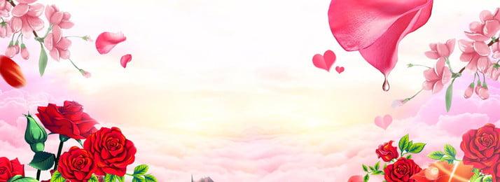 सुंदर रोमांटिक पीच खिलना समुद्र बैनर पृष्ठभूमि सुंदर रोमांटिक आड़ू का फूल पत्ती मेघ, सुंदर, रोमांटिक, आड़ू पृष्ठभूमि छवि