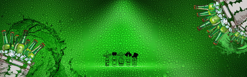 beer background green water drops, Water, Cartoon, Taste Background image