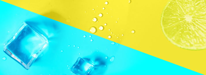 blue ice cube water drops summer, Summer, Lemon, Yellow Background image