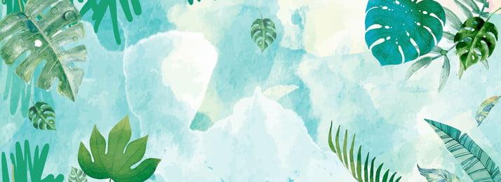 藍色水墨夏季葉子環境背景 藍色 水墨 夏季 葉子 環境 紋理 植物 自然 環境 裝飾, 藍色水墨夏季葉子環境背景, 藍色, 水墨 背景圖片