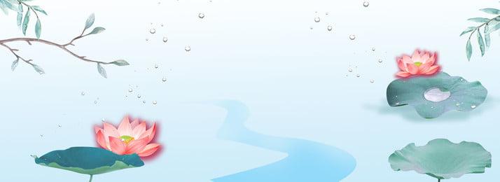 青い蓮の魚池夏のクールな背景 ブルー ロータス 魚のいる池 夏 クールな背景 夏 夏リアン 蓮の葉, ブルー, ロータス, 魚のいる池 背景画像