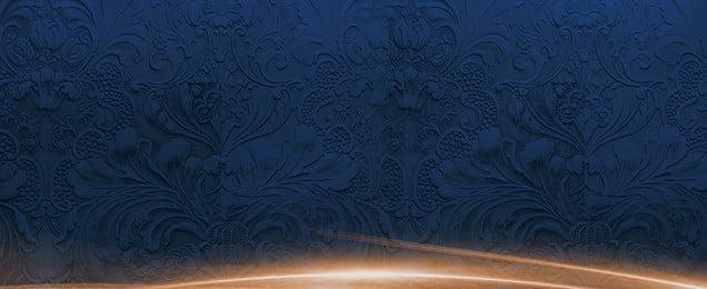 màu xanh cổ điển huyền bí màu xanh retro hoa văn hào, ẩn, Hạnh, Văn Ảnh nền