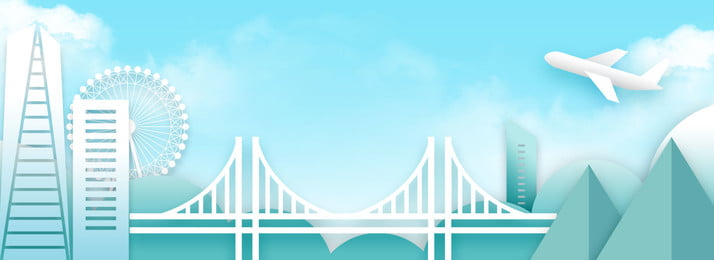 ब्लू ट्रैवल थ्री डायमेंशनल पेपर कट ब्रिज बैकग्राउंड नीला यात्रा तीन आयामी कागज, नीला, यात्रा, तीन पृष्ठभूमि छवि
