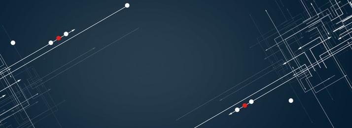 商務科技深藍色背景簡約風海報banner 商務科技 深藍色背景 點 線 psd 海報背景 科技 溫暖, 商務科技深藍色背景簡約風海報banner, 商務科技, 深藍色背景 背景圖片