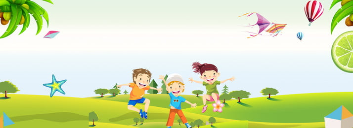 Cartoon Childlike Child Summer Camp, Summer Vacation, Poster, Summer Camp Poster, Background image