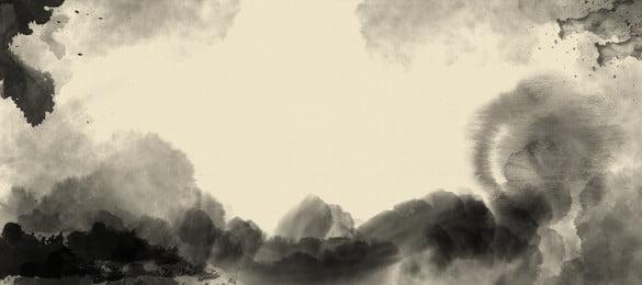 잉크 및 바람 얼룩 배경 중국 스타일 잉크 꽃 잉크 페인팅 배너, 룸, 잉크, 스타일 배경 이미지