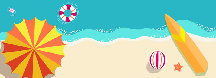 彩色沙灘海邊度假清涼背景 彩色 沙灘 海邊 度假 泳圈 衝浪 球類 運動 休閒, 彩色沙灘海邊度假清涼背景, 彩色, 沙灘 背景圖片