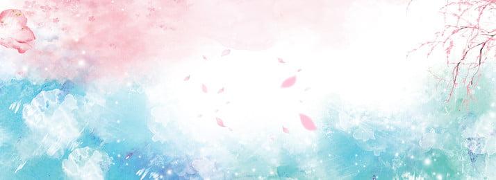 彩色創意水墨花朵背景 彩色 創意 水墨 花朵 植物 自然 溫馨 飄落, 彩色創意水墨花朵背景, 彩色, 創意 背景圖片