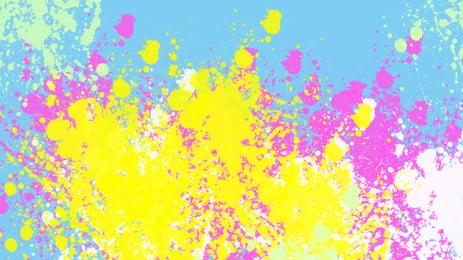 カラフルなスプラッシュインクポスターの背景 色 しぶきインク イエロー 紫色 グリーン クリエイティブ デザイン ポスター バックグラウンド 色 しぶきインク イエロー 背景画像