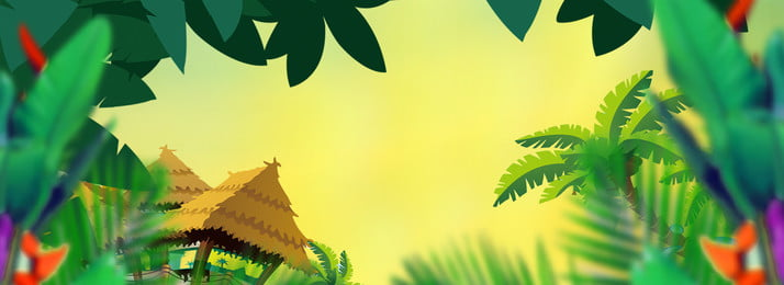 cây cỏ nhiệt đới đầy màu sắc nền nhà màu nhiệt đới du lịch du, Cảnh, Môi, Nhiên Ảnh nền