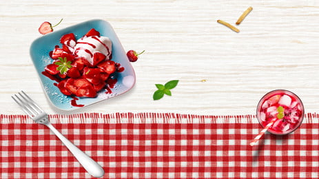 dessert strawberry afternoon tea sweet, Red Box, Drink, Ad Background image