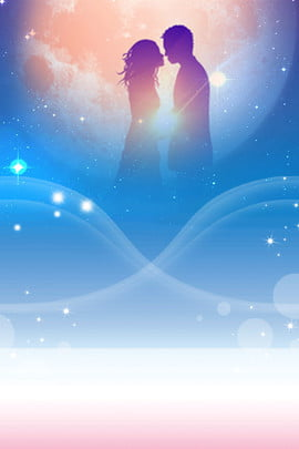 dream valentines day couple moon , Tanabata, Layering, Atmosphere Background image
