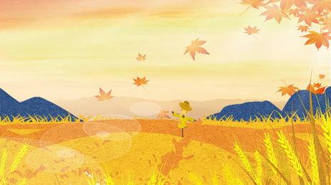 秋、秋、漫画、手描き、シンプルなイチョウの木、広告ポスター あき 収穫 麦畑 ゴールデン ごはん 李秋 漫画 手描き 単純な イチョウの木の広告ポスター, 秋、秋、漫画、手描き、シンプルなイチョウの木、広告ポスター, あき, 収穫 背景画像