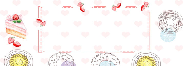 fashion romantic dessert cake, Strawberry, Mobile Phone, Banner Background Background image
