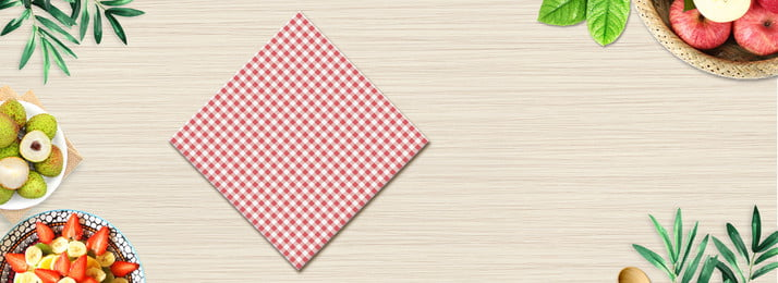 Food Table Cloth Fresh And Literary Red, Delicious Fruit, Green Leaf, Field, Background image