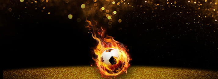 Football Black Background Simple Style Poster Banner, Poster Background, Ps Source File, Starlight, Background image