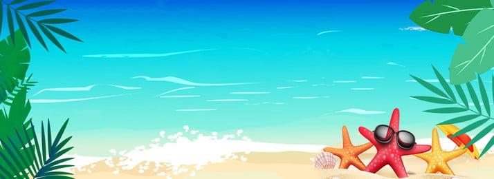 गर्मियों में ताजा नीले समुद्र तट स्नान बैनर ताजा गर्मी नीला रेतीले समुद्र गर्मियों में ताजा पृष्ठभूमि छवि