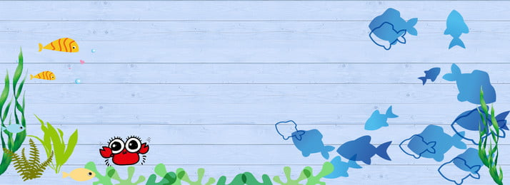 新鮮な夏の海の生活 新鮮な 夏 海中 漫画 海藻 かに 魚 バックグラウンド, 新鮮な夏の海の生活, 新鮮な, 夏 背景画像