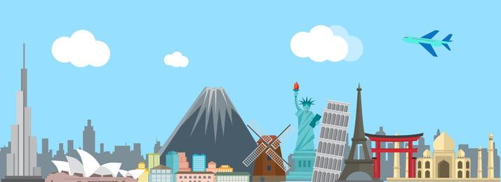 회색 창조적 인 경치 좋은 관광 배경 회색 크리에이티브 빌딩 도시 랜드 마크 화산 항공기 자유의 여신상 빌딩, 회색 창조적 인 경치 좋은 관광 배경, 회색, 크리에이티브 배경 이미지