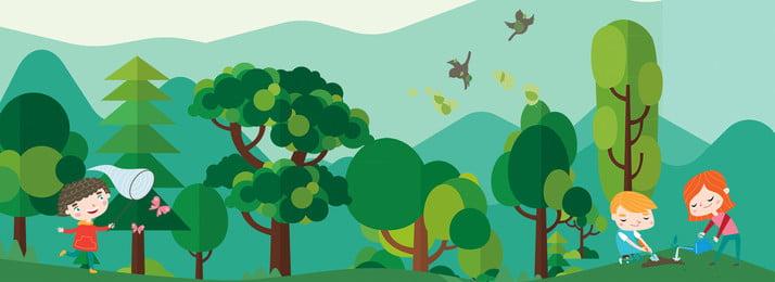 녹색 크리 에이 티브 공장 큰 나무 장식 배경 녹색 식물 자연 환경 질감 식물 여름 놀이 교육, 녹색, 식물, 자연 배경 이미지