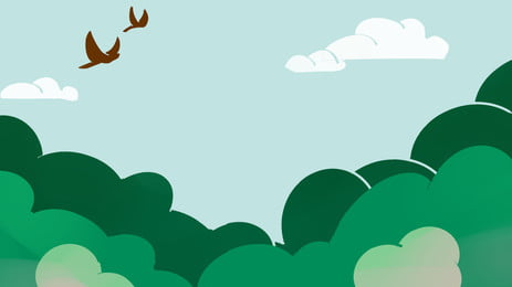 green tree top sky flying bird, Minimalistic Background, Forest, Natural Background image