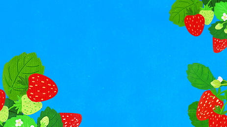 hand painted cartoon fruit red, Strawberry, Poster, Background Template Background image
