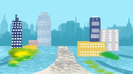 vẽ tay tòa nhà thành phố vẽ tay thành phố tòa, Nhà, Nhà, Nền Ảnh nền