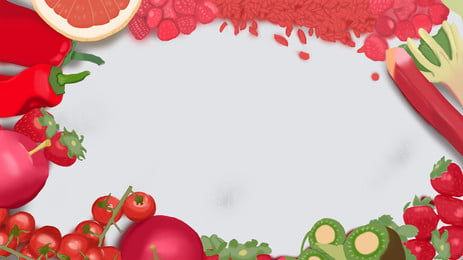 hand painted food feast delicious, Food, Tomato, Grapefruit Background image