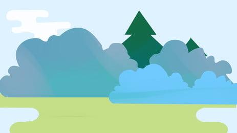 fond minimaliste vert sauvage jungle bleu clair simple jungle sauvage le fond prairies piscine, Deau, Espace, Fond Minimaliste Vert Sauvage Jungle Image d'arrière-plan