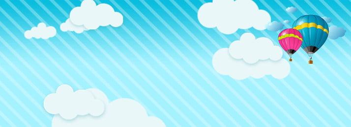 Phim hoạt hình đơn giản nền mây trắng Đường dây Đơn giản Phim Nền Áp Phim Hình Nền
