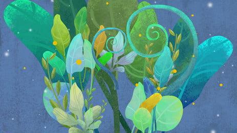 水彩画の葉のポスターの背景 文学 水彩画 葉っぱ 葉っぱ つる 星空 ポスター バックグラウンド 背景テンプレート 水彩画の葉のポスターの背景 文学 水彩画 背景画像