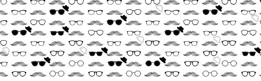 Dia dos homens Cartoon azulejo fundo preto e branco Dia dos homens Caricatura Fundo Branco Óculos Barbudo Imagem Do Plano De Fundo