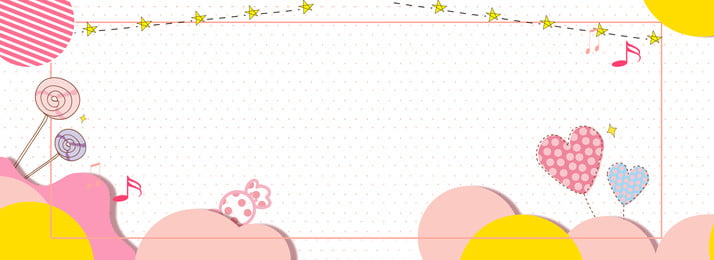Mother And Baby Lovely Cartoon Banner, Circle, Mother And Baby, Lovely, Background image