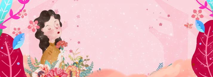Flowers Banner Mothers Фоновое изображение