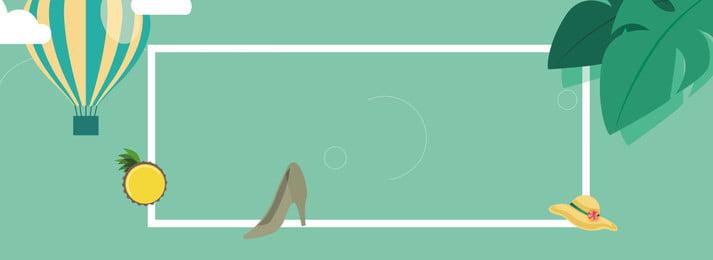 夏日女鞋清新簡約banner 新品上市 冰爽夏日 清爽夏日 盛夏 繽紛夏日 夏天 清涼一夏 夏季新品 夏日banner, 新品上市, 冰爽夏日, 清爽夏日 背景圖片