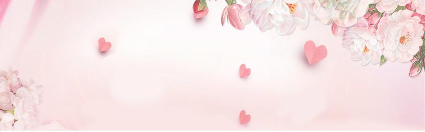 bandeira de fundo de flor de mão desenhada sonhador fundo rosa fundo de, De, Fundo, Banner Imagem de fundo