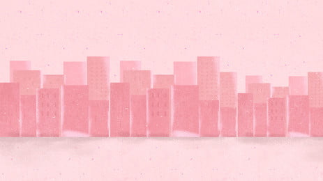 Bức tranh hồng cát tranh cổ tích thành phố cao tầng Màu hồng Truyện tranh Tranh Nhà Tòa Tích Hình Nền