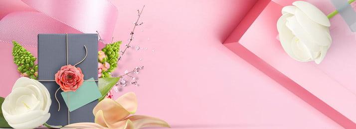 rosa fresco dia das mães flores, Flor, Fita, Bonita Imagem de fundo