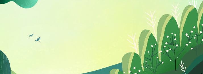 新鮮な夏の植物のポスターの背景 植物 木々 花 グラスランド 花 単純な 新鮮な 文学 漫画 植物 木々 花 背景画像