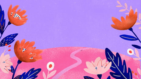 बैंगनी गुलाबी विपरीत रंग सड़क के किनारे के फूल और फूलों की पृष्ठभूमि बैंगनी गुलाबी विपरीत रंग छोटी सड़क फूल फूल कार्टून, पृष्ठभूमि, हाथ, खींचा पृष्ठभूमि छवि