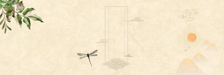 vintage trung quốc gió sunrise xiangyun zen nền poster retro phong cách trung, Phích, Minh, Tương Ảnh nền