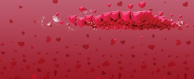 浪漫love情人節banner 浪漫愛心 感動 love 情人節 團購 紅色, 浪漫愛心, 感動, Love 背景圖片