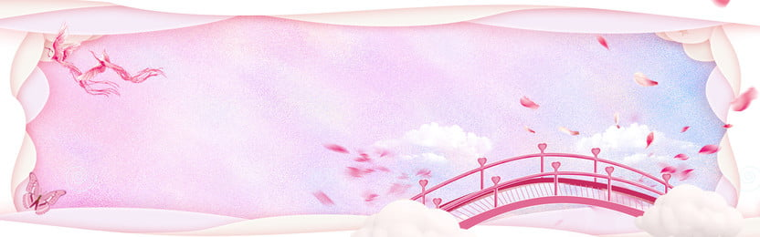 Romantic Lovers Day Pink Banner Festival, Tanabata, Poster, Valentines Day, Background image