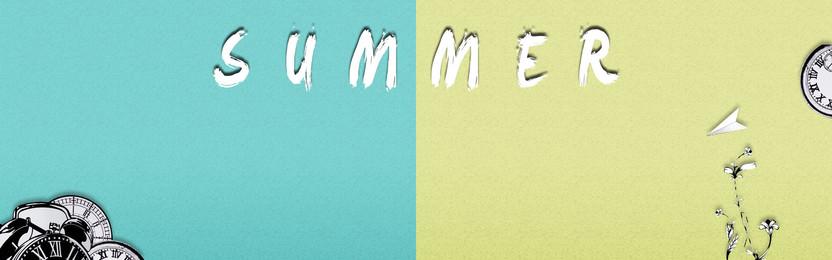 簡約背景banner 簡約 藍色背景 黃色背景 summer, 簡約背景banner, 簡約, 藍色背景 背景圖片